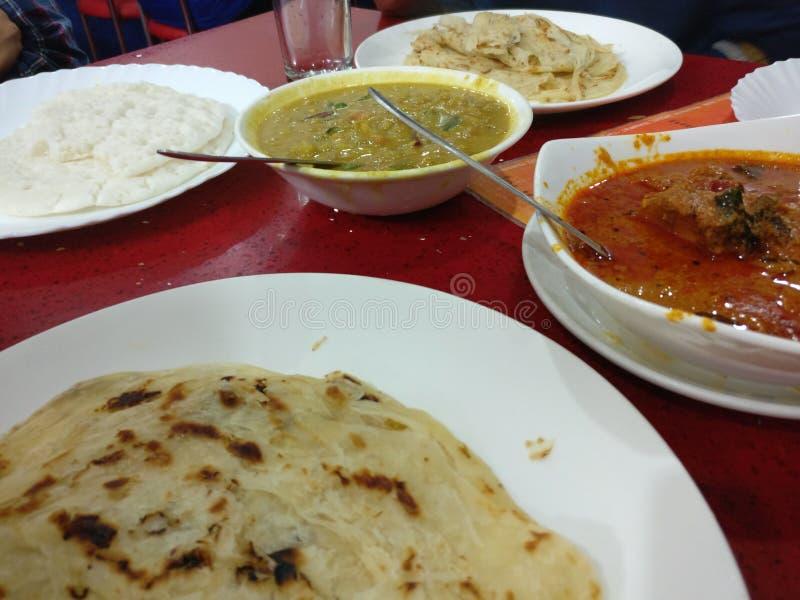 Het Indische voedsel van het zuiden stock afbeelding
