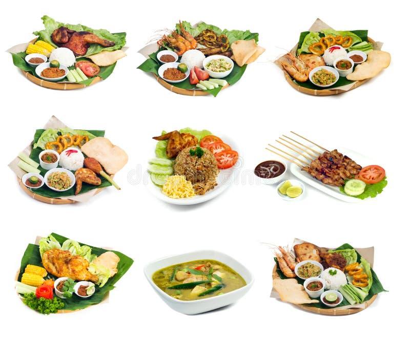 Het Indonesische voedsel van Bali op achtergrond stock afbeelding