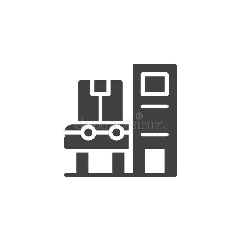 Het industriële automatische vectorpictogram van de riemmachine stock illustratie