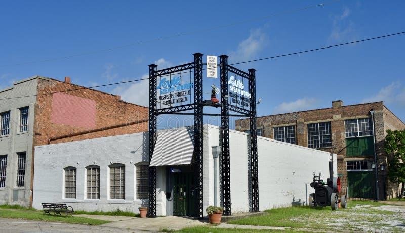 Het Industriële erfgoedmuseum van de Mississippi, Meridiaan, de Mississippi royalty-vrije stock fotografie