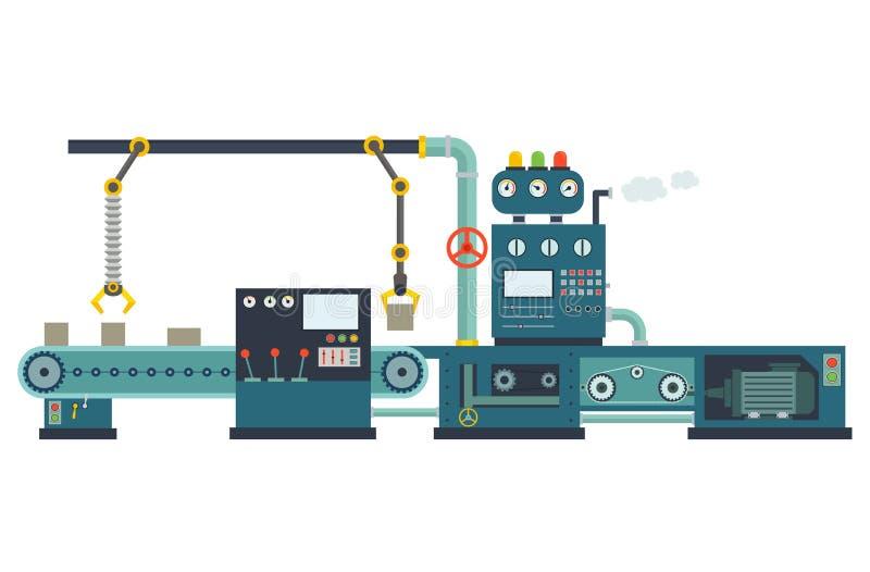 Het industriële materiaal van de fabrieksbouw stock illustratie