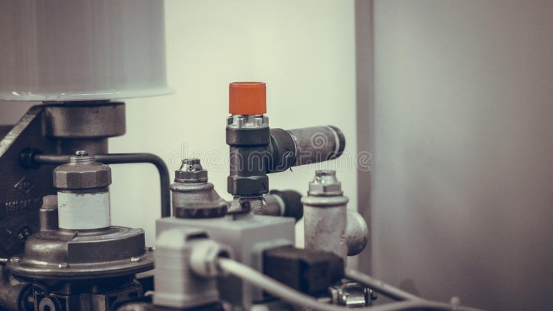 Het industriële Mechanische Systeem van de Productielijn royalty-vrije stock fotografie