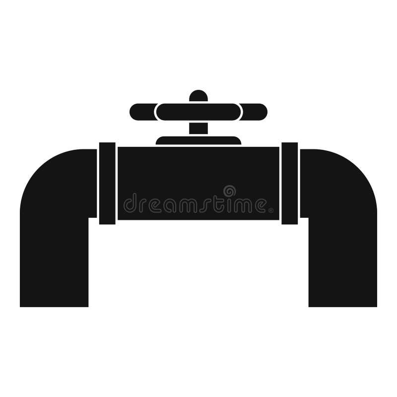 Het industriële pictogram van de pijpklep, eenvoudige stijl royalty-vrije illustratie