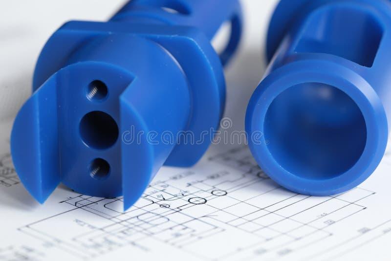 Het industriële Plastiekenvoedsel proccesing stock foto