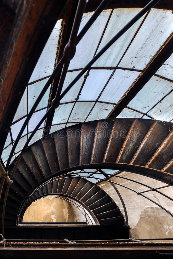 Het industriële trap uitgaan royalty-vrije stock afbeelding