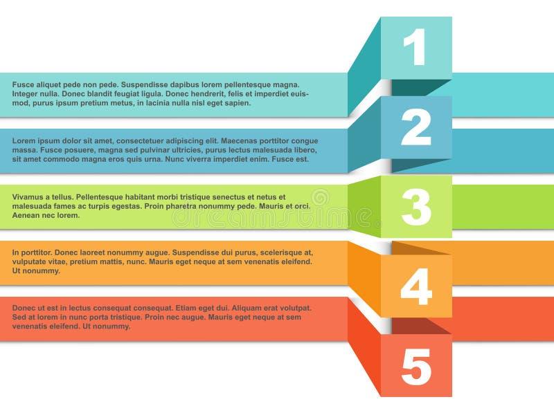 Het infographic malplaatje van kleurenstrepen royalty-vrije illustratie