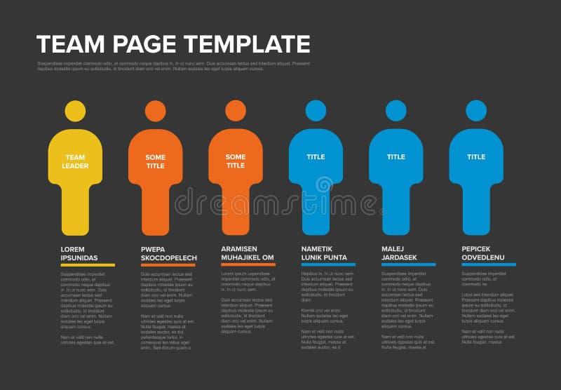 Het infographic malplaatje van het mensenteam stock illustratie