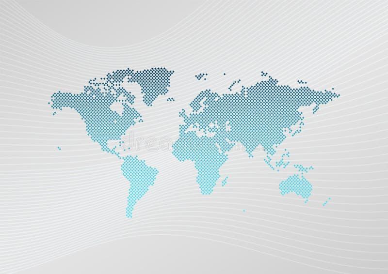 Het infographic symbool van de wereldkaart Vectorlay-out in A4 grootte Ontwerpelement voor zaken, malplaatje, presentatie, steekp vector illustratie