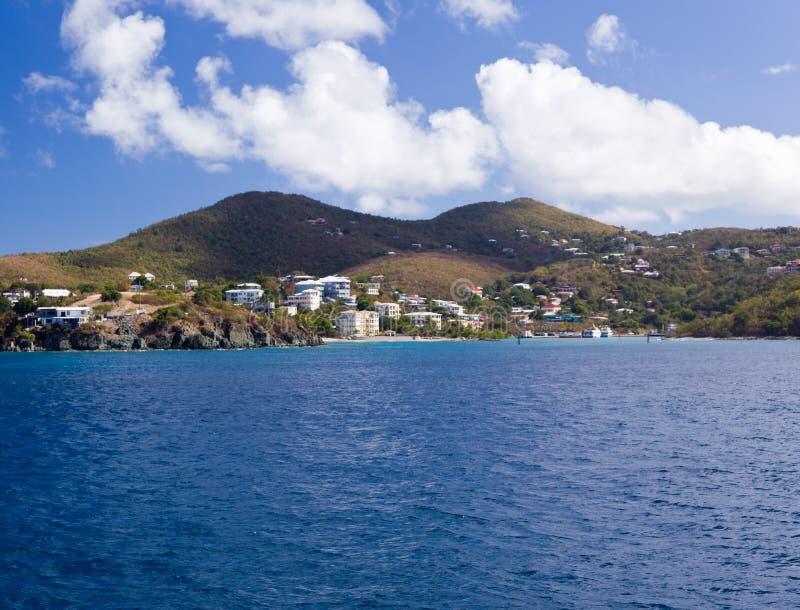 Het ingaan van Baai Cruz op St John stock fotografie