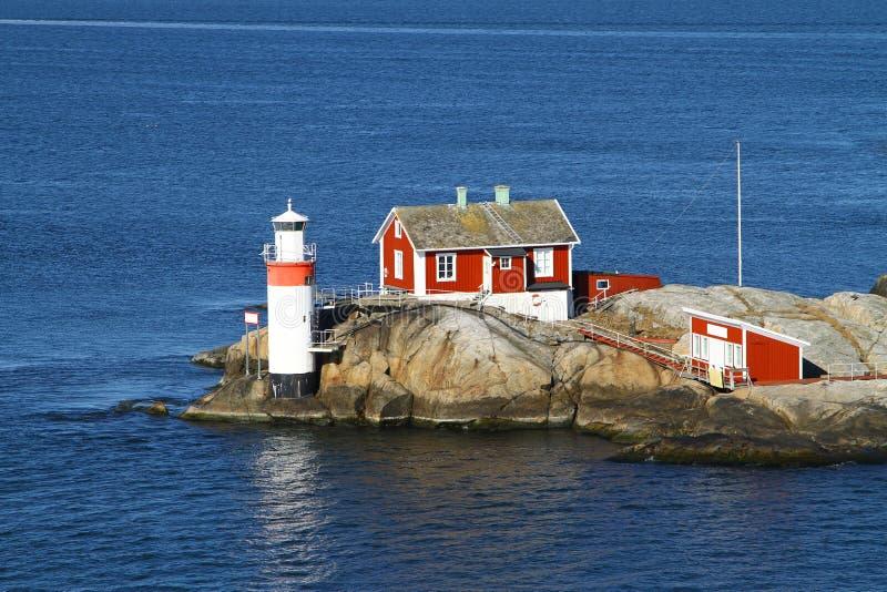 Het ingaan van de haven van Gothenburg stock afbeelding