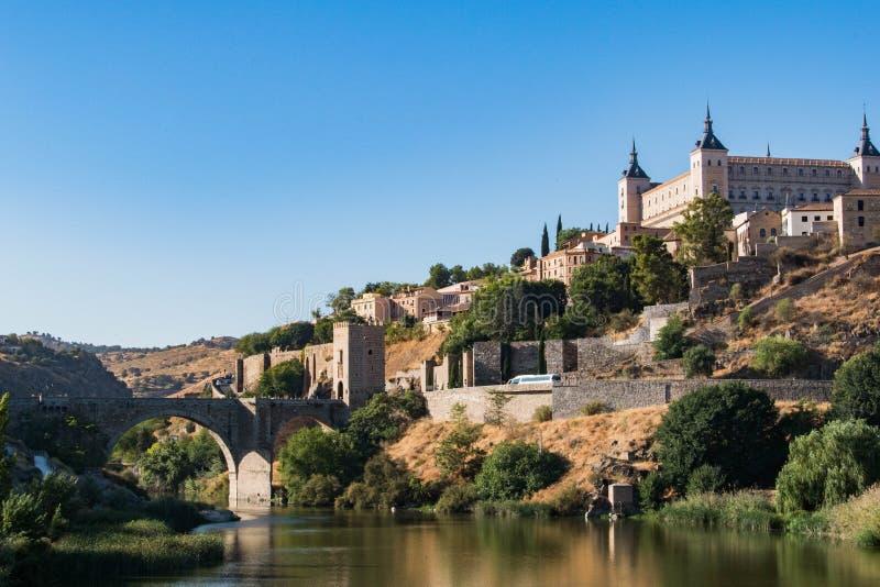 Het ingaan van de stad van Toledo stock foto's