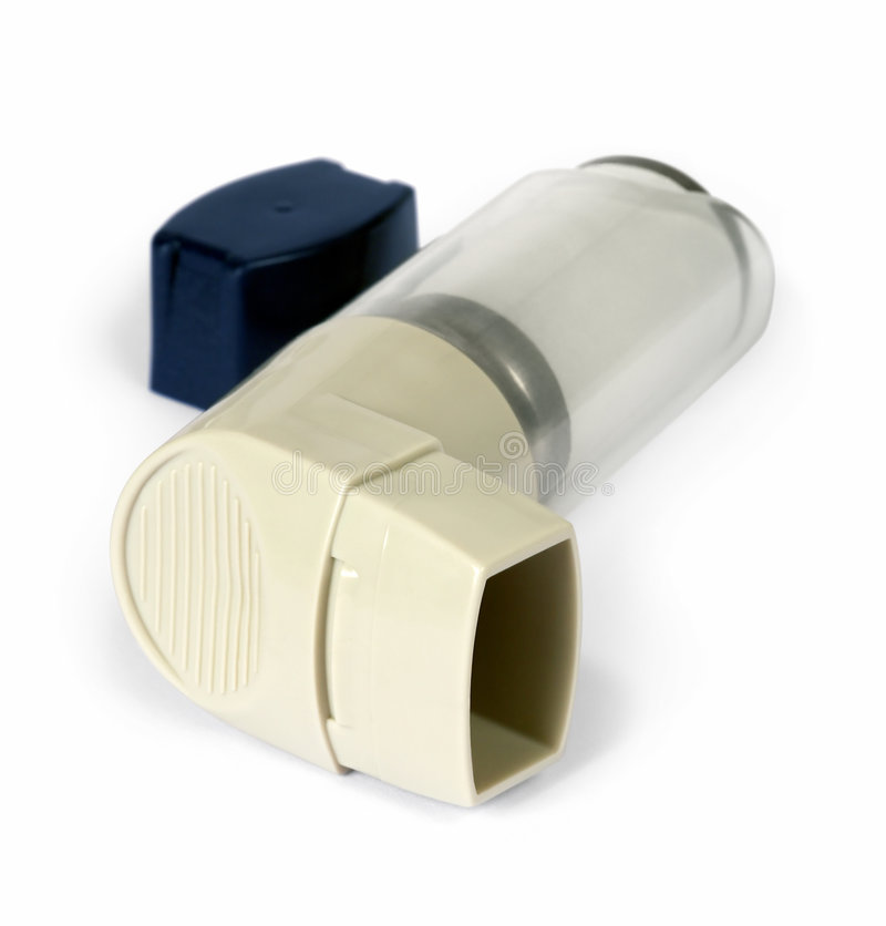 Het inhaleertoestel van het astma stock foto