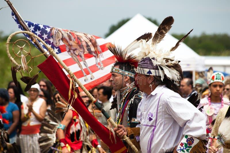 Het Inheemse Amerikaanse Festival van Powwow stock fotografie