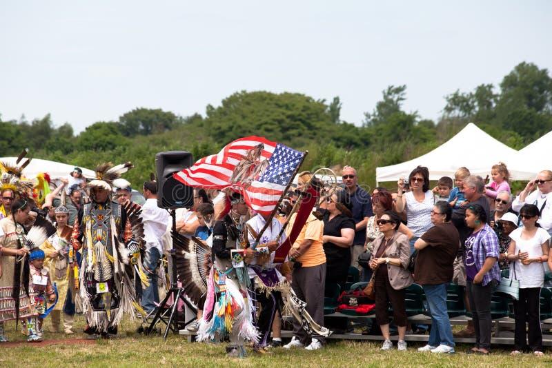 Het Inheemse Amerikaanse Festival van Powwow stock afbeeldingen