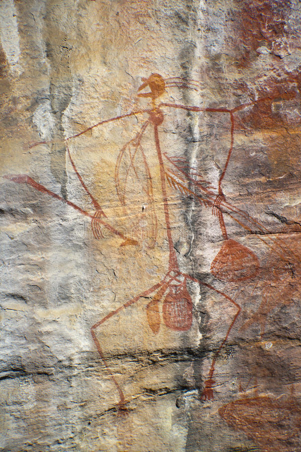 Het inheemse Art. van de Rots stock foto
