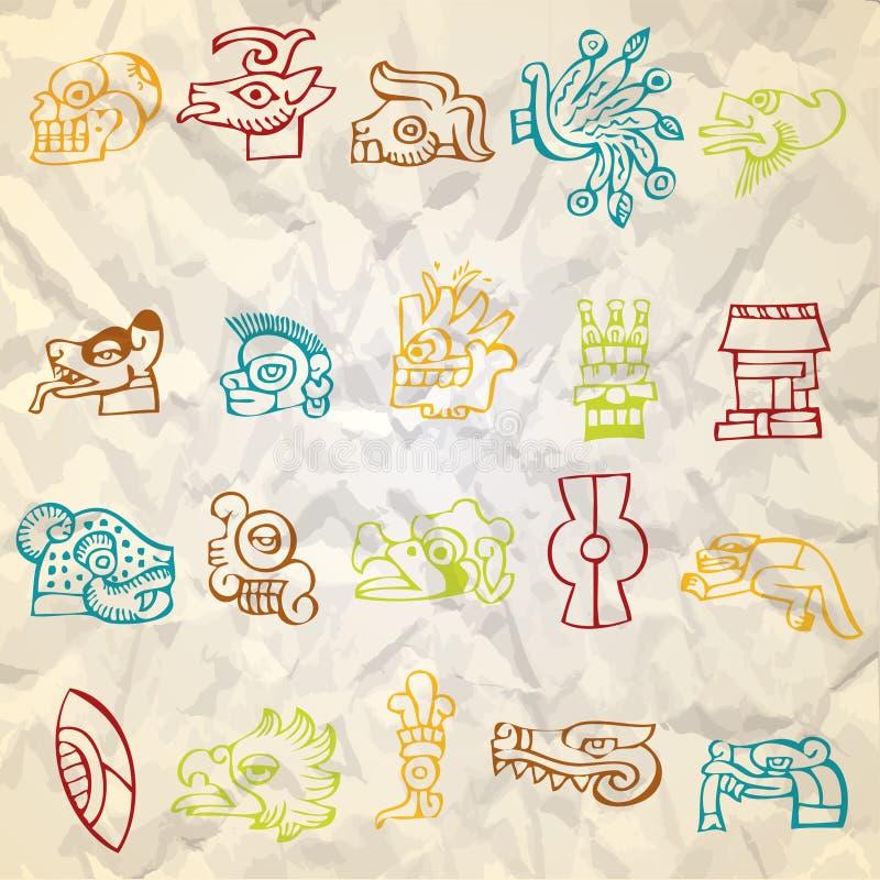 Het inheemse art. van Mexico en van Peru royalty-vrije illustratie