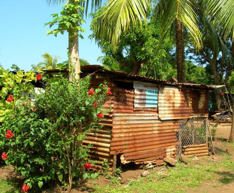 Het inheemse eiland Nicaragua van het huisgraan stock fotografie