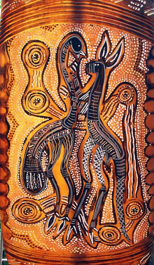 Het inheemse inheemse art. van Australië royalty-vrije stock foto