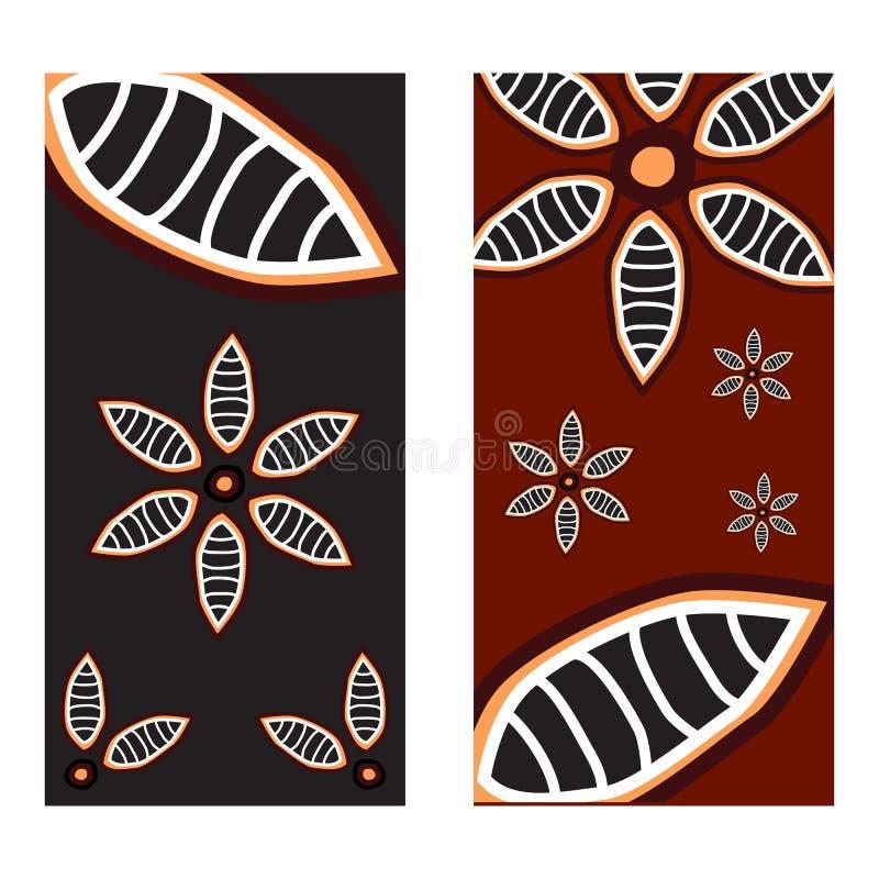 Het inheemse malplaatje kunst van het achtergrondpictogramembleem vector illustratie