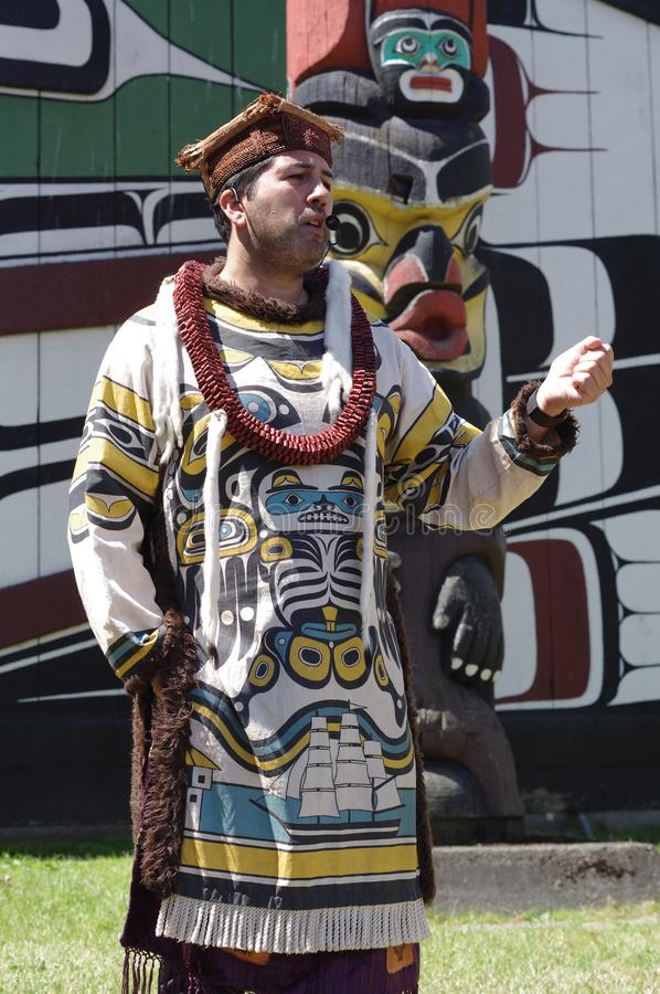 Het inheemse storytelling stock afbeelding
