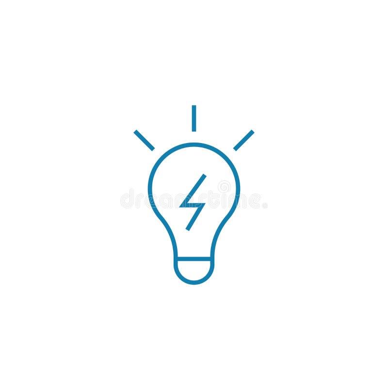 Het innovatieve concept van het oplossings lineaire pictogram Het innovatieve vectorteken van de oplossingslijn, symbool, illustr vector illustratie