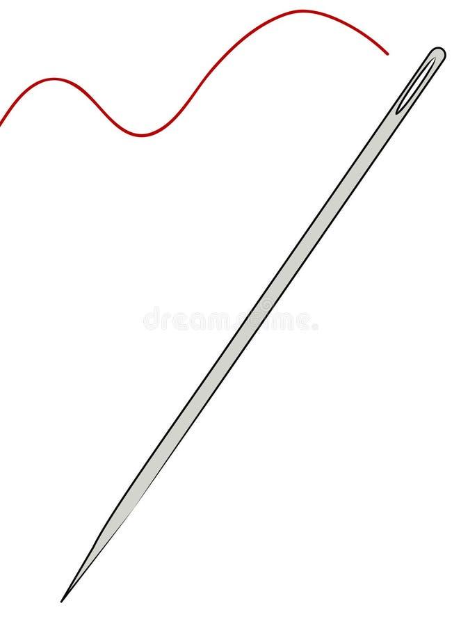 Het inpassen van een naald vector illustratie