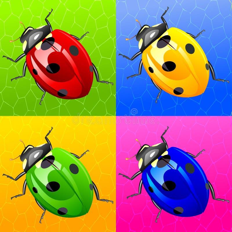 Het insect van de dame in Monroe stijl stock illustratie
