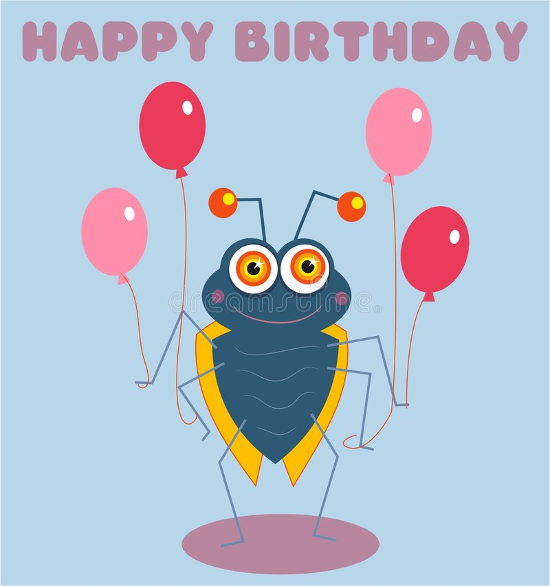 Het Insect van de verjaardag stock illustratie