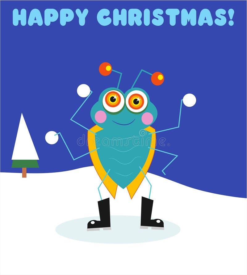 Het Insect Van Kerstmis Stock Foto's