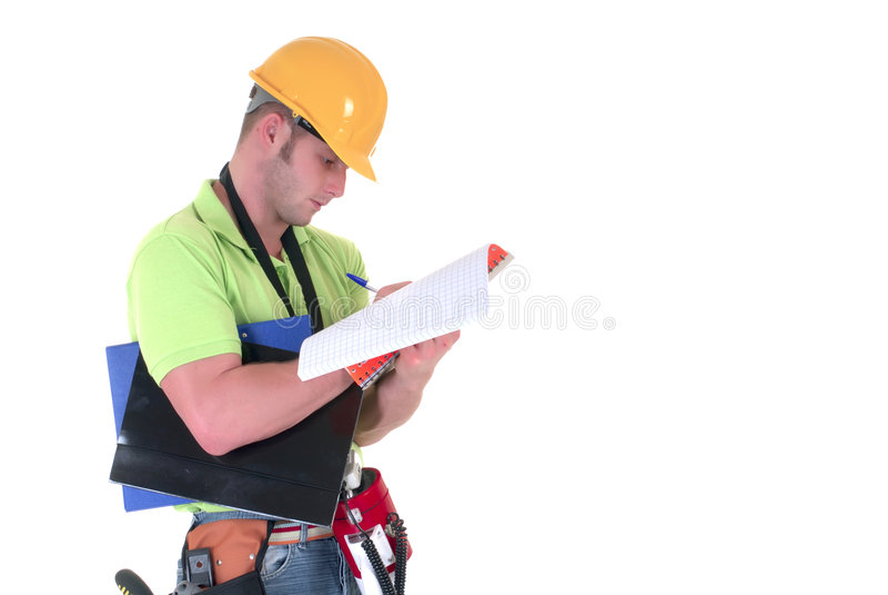 Het inspecteren van de supervisor royalty-vrije stock afbeelding