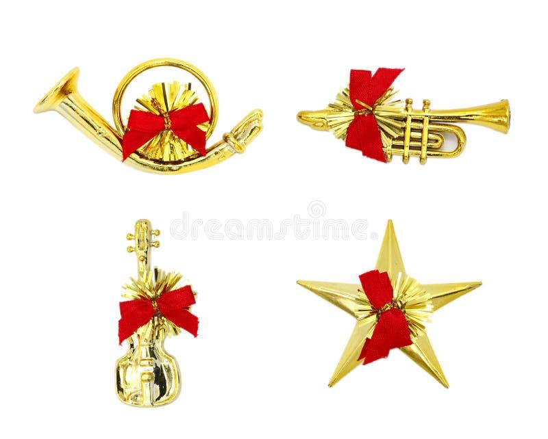 Het Instrument van Kerstmis op Witte Achtergrond. stock foto