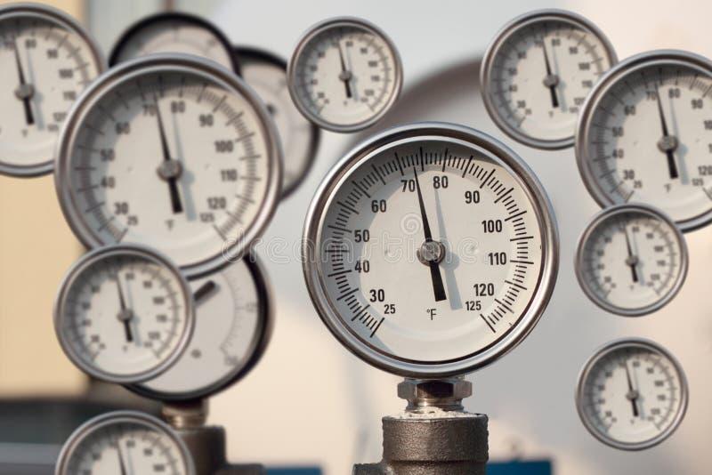 Het instrument voor het meten van druk stock afbeelding