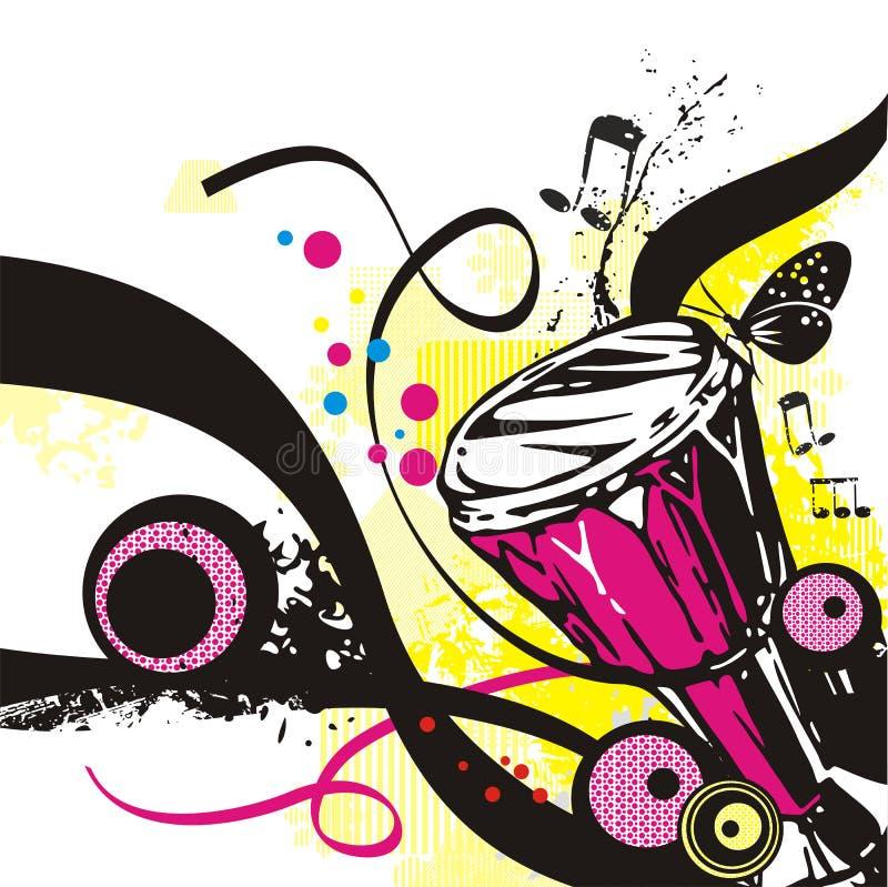 Het instrumentenreeks van de muziek stock illustratie