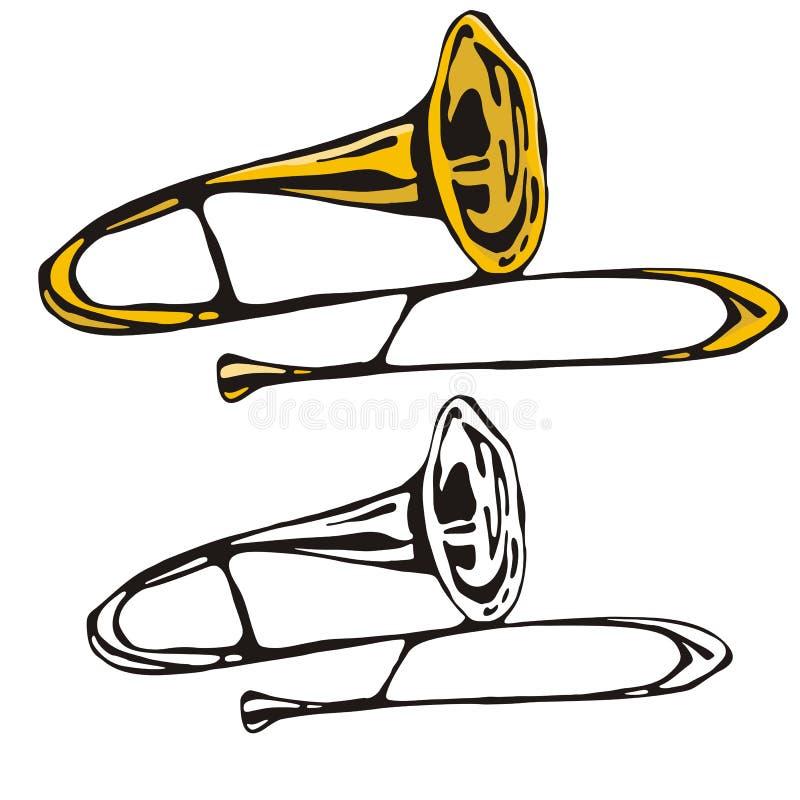 Het instrumentenreeks van de muziek royalty-vrije illustratie
