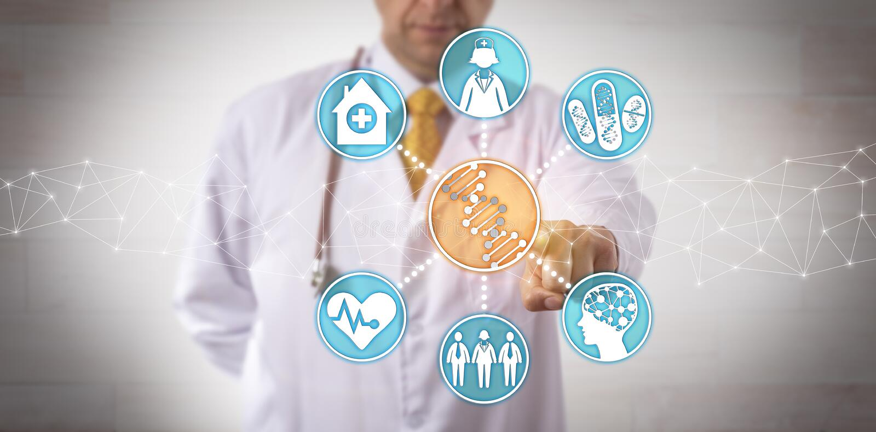 Het integreren Genomic Gegevens in Klinisch Werkschema stock afbeeldingen