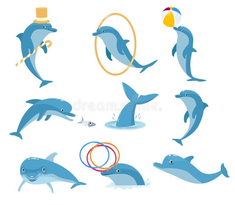 Het intelligentste dier is de dolfijn stock illustratie