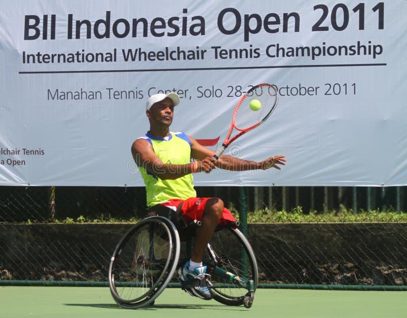 Het internationale kampioenschap van de tennisrolstoel stock afbeeldingen