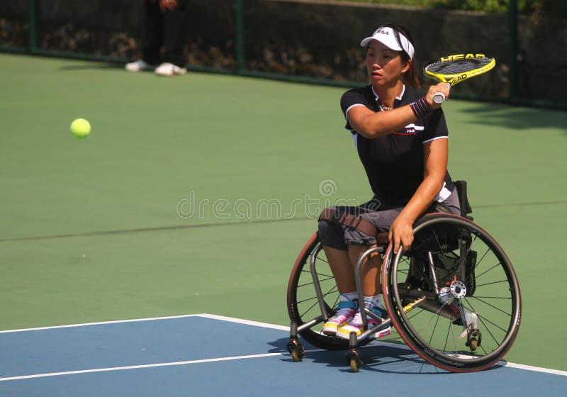 Het internationale kampioenschap van de tennisrolstoel royalty-vrije stock afbeeldingen