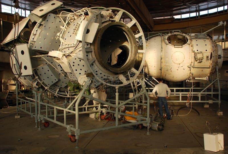 Het internationale Model van het Segment van het Ruimtestation Russische stock foto's
