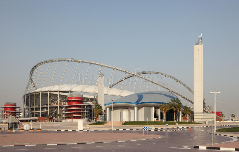 Het Internationale Stadion van Khalifa, Doha stock fotografie