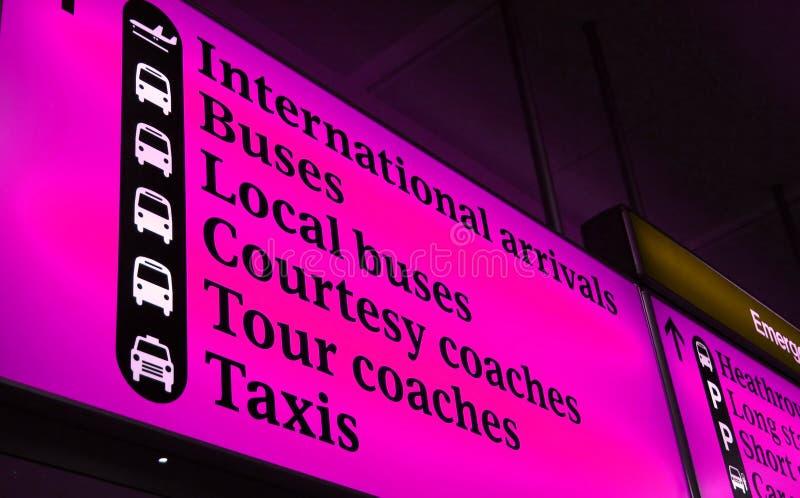 Het internationale Teken van de Luchthaven royalty-vrije stock afbeeldingen