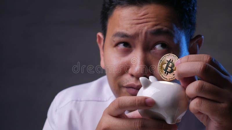 Het investeren in het Concept van Bitcoin Cyptocurrency stock foto's
