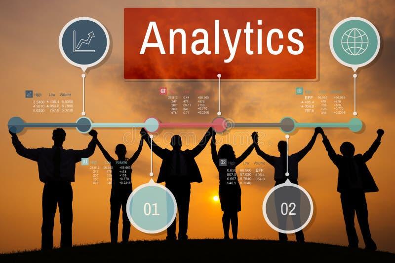 Het Inzicht van de Analyticsanalyse verbindt Gegevensconcept royalty-vrije illustratie