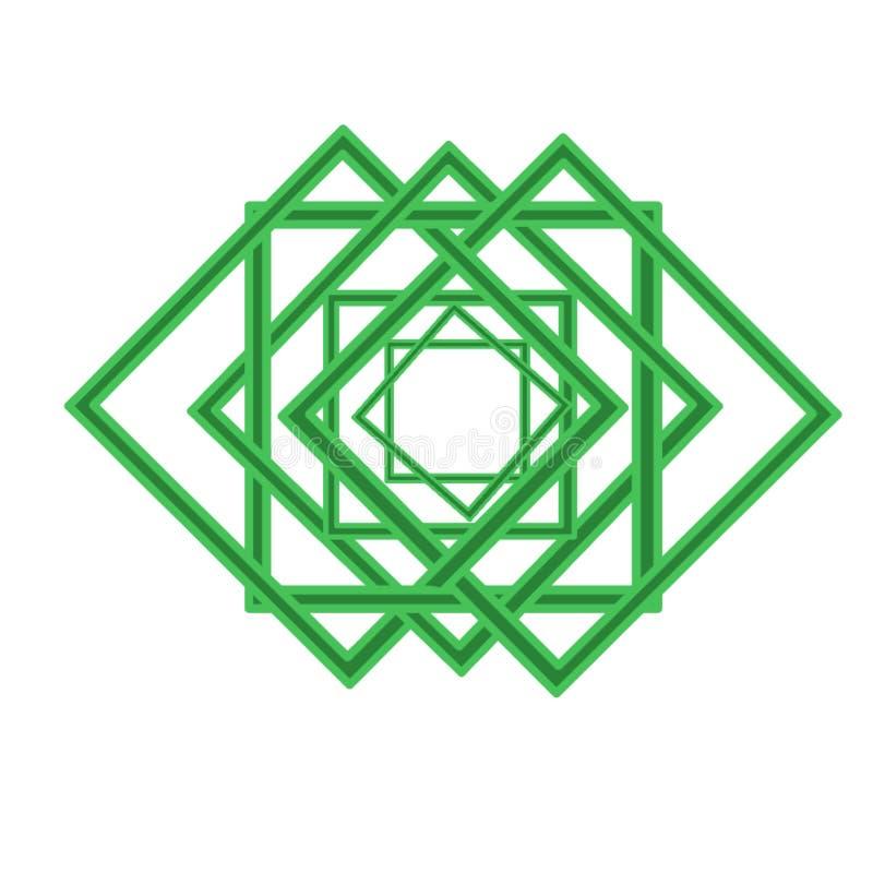 Het Islamitische creatief en inovative concept van het kunstembleem stock illustratie