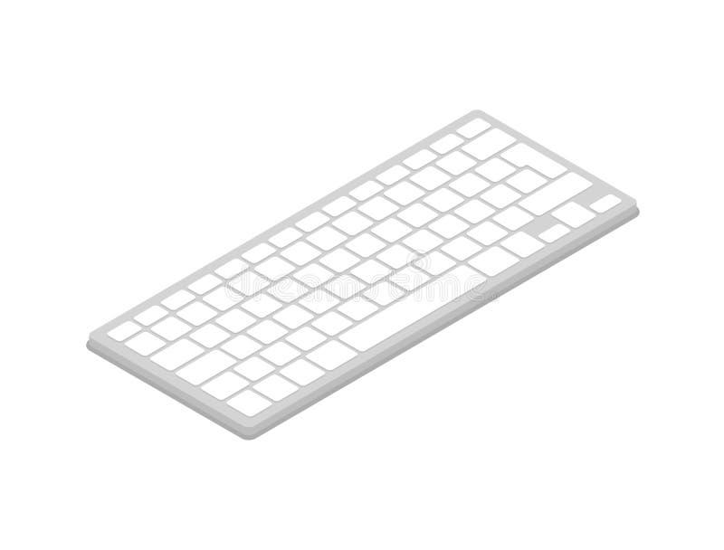 Het isometrische 3D pictogram van het computertoetsenbord royalty-vrije illustratie