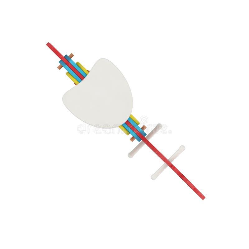 Het isometrische jong geitjeobjecten 3D teruggeven stock illustratie