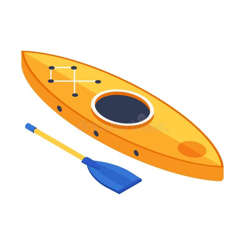 Het isometrische Pictogram van de Kajakboot royalty-vrije illustratie