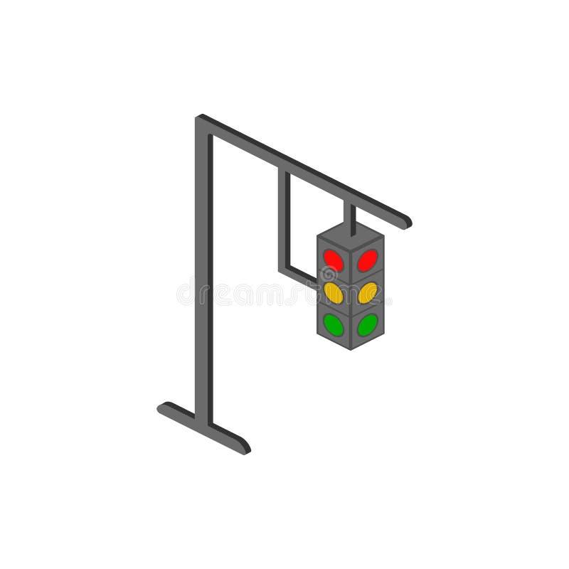 Het isometrische pictogram van verkeerslampen Element van pictogram van kleuren het isometrische verkeersteken Grafisch het ontwe royalty-vrije illustratie