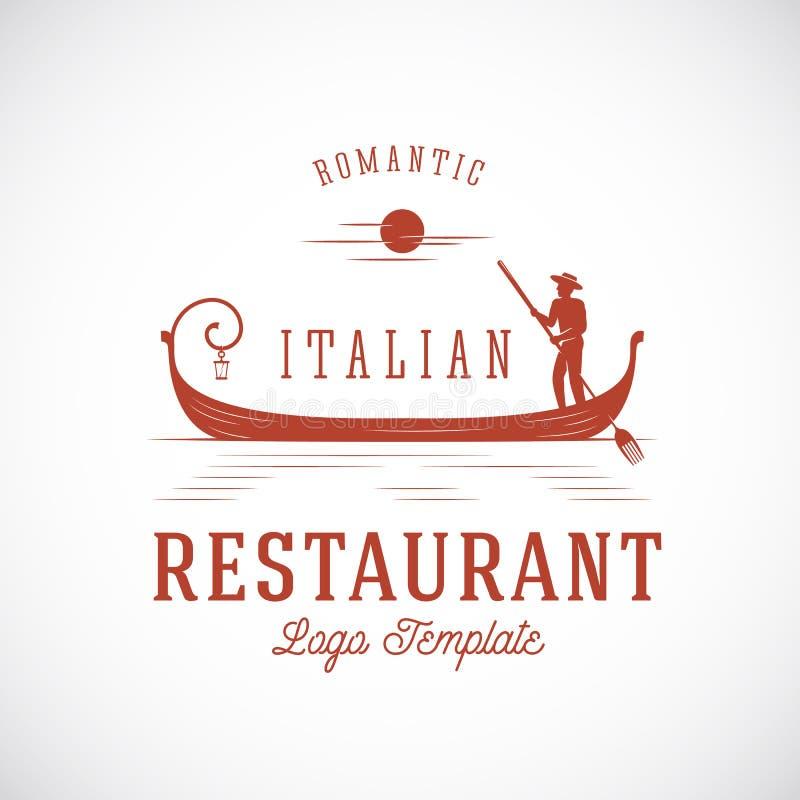 Het Italiaanse Embleem van het Restaurant Abstracte Vectorconcept vector illustratie