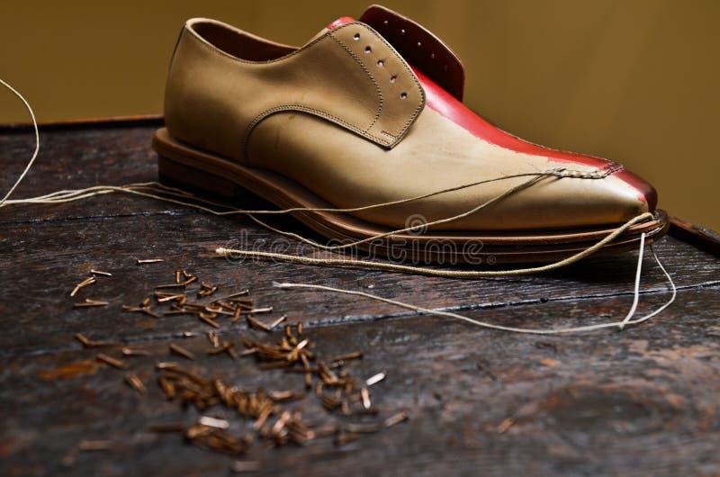 Het Italiaanse schoenen builing stock afbeelding